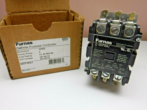 Furnas 42CF35AJ Definite Purpose Controller 3 Pole 24V 50/60HZ New