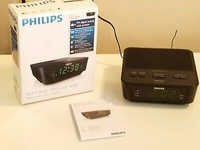 Philips AJ3116M37 FM Alarm Clock Radio - Black
