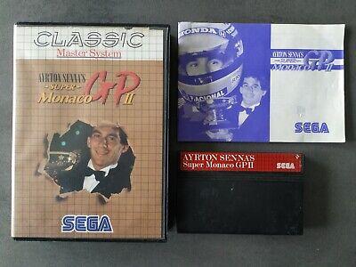Sega master system game Ayrton Senna's Super Monaco GP 2 SMS TOP