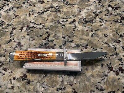 CASE XX CHEETAH 6111 1/2 HARVEST ORANGE BONE POCKET KNIFE CASEXX Rare