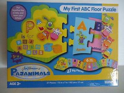 """My First ABC Floor Puzzle""  with Jim Henson""s Pajanimals by Briarpatch 2013"