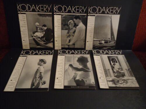 """""""KODAKERY"""" Booklets by Eastman Kodak Company  SIX Issues July- December 1931"""