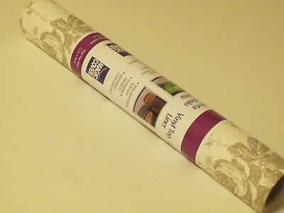 """Used, Vinyl Shelf & Drawer Liner Taupe Flower Non-Adhesive 12"""" x 30"""" Roll for sale  Shipping to India"""