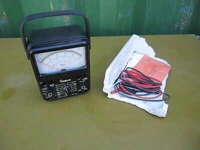 Simpson 260 Series 8 Volt Ohm Milliammeter Analog Multimeter