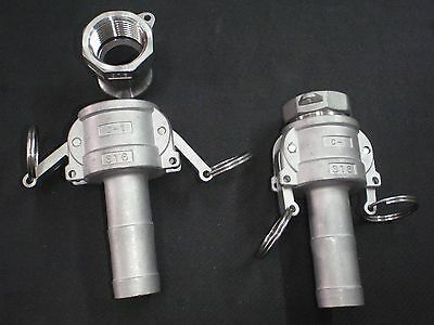 Stainless Steel Cam Lock 1 Npt - 1 Hose Barb Assembly Clhba100