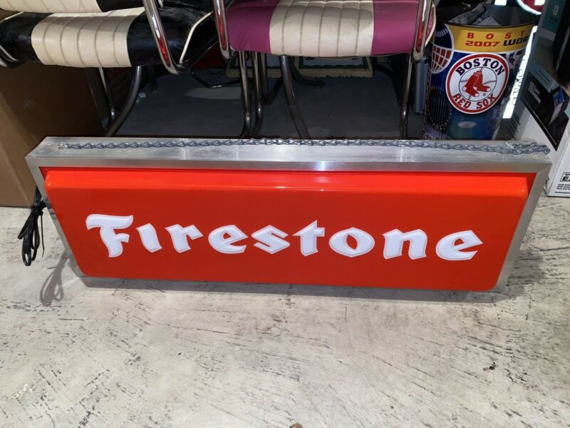 Vintage Firestone Lighted Sign