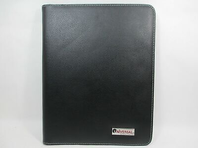 Faux Leather Notepad Binder Case Universal Perfectly Practical Wwhite Stitching