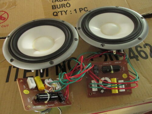 Woofers and crossovers from Eltax Liberty 5+ speakers