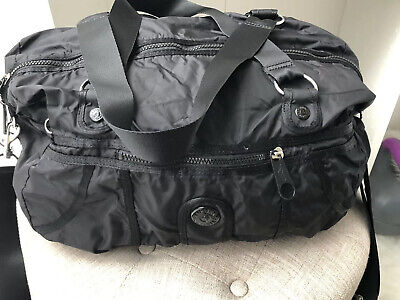 EUC! Kipling Black Gorilla Girlz Medium Duffle Shoulder Bag