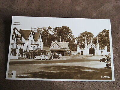 Real photographic postcard - Kenmore scene - Old cars  -Nr Aberfeldy Perthshire