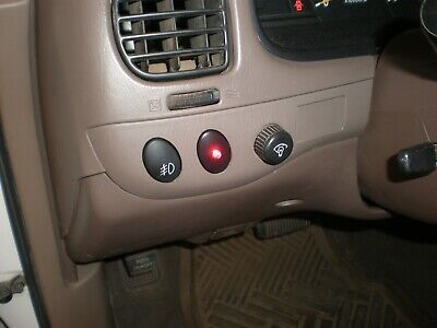 Fake Car Alarm Led Light- Black Trim Ring Clear Red Blinking Led
