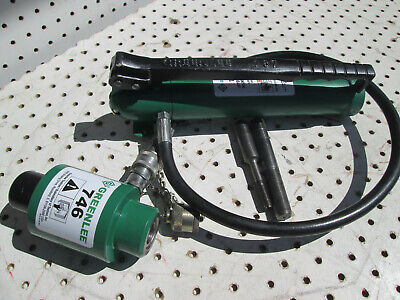 Rebuilt Greenlee 767 Hydraulic Knockout Hand Pump And 746 Ram