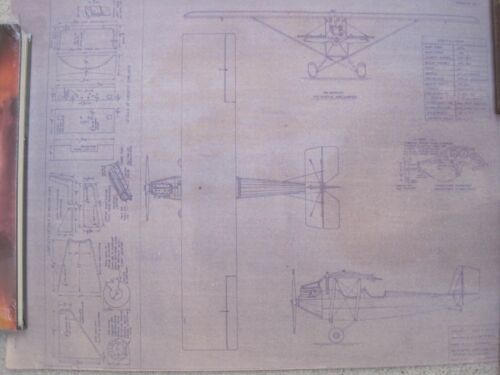Vintage Set of Airplane Blue Prints by Pietenpol Air Camper & Air Scout. 1933-34