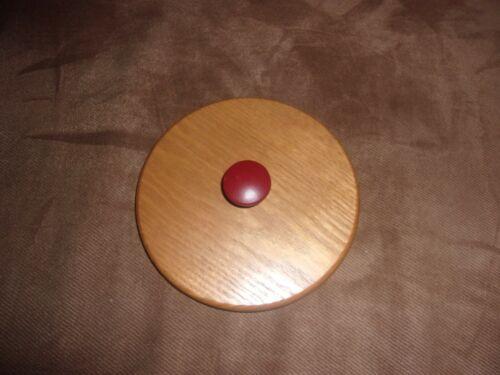 KS Lanam Wooden Lid fits Longaberger Small Mixing Bowl - Red Knob