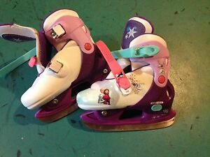 Frozen ice skates