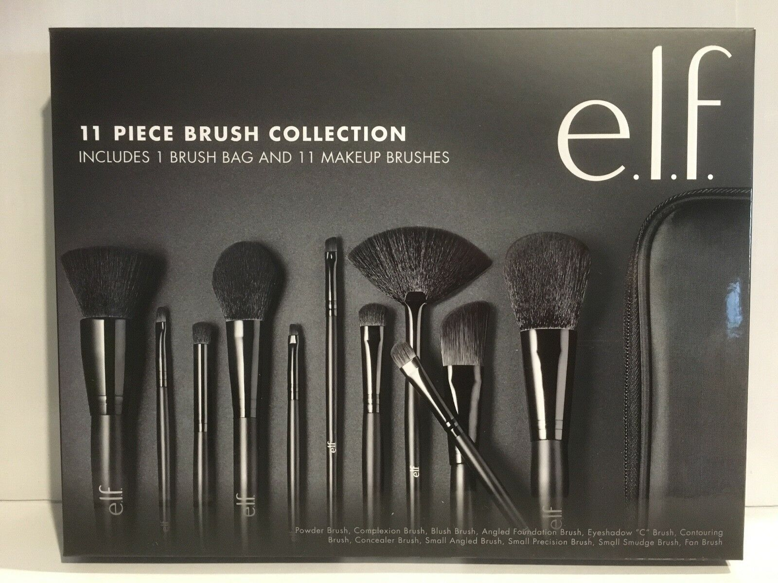 e.l.f. Studio 11 Piece Brush Collection, 12-ounce