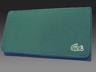 55c912b1b9 New Authentic Vintage LACOSTE Ladies PURSE WALLET Casual 2.6 Forrest Green