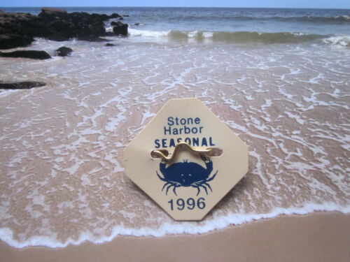 1996  STONE   HARBOR   NEW  JERSEY SEASONAL  BEACH  BADGE/TAG  25  YEARS  OLD