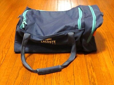Men's Lacoste Essential Sport Royal Blue Canvas Gym Duffel Bag for sale  Shipping to Canada