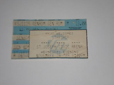 """Starship Concert Ticket Stub-1989-Mickey Thomas-""""Nothing's Gonna Stop Us Now""""-MO"""