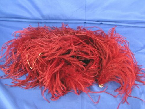 GORGEOUS!! Merlot Red Wine MAROON FEATHER BOA SCARF Super Long OSTRICH SHOWGIRL
