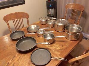 Pots and Pans 10 piece +