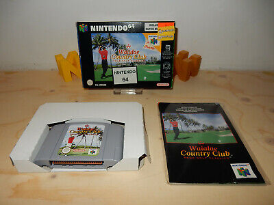 PAL N64: Waialae Country Club CIB OVP Complete Boxed with Manual Nintendo 64