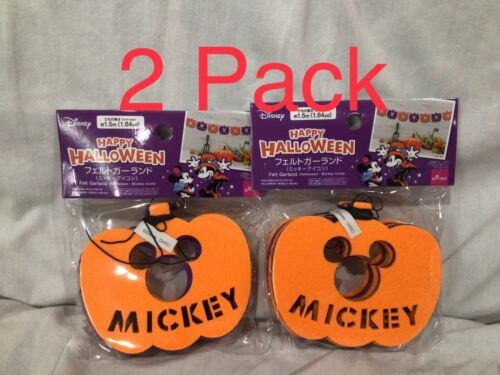 Daiso Disney Mickey Mouse Pumpkin Purple Orange Garland Halloween Decoration NEW