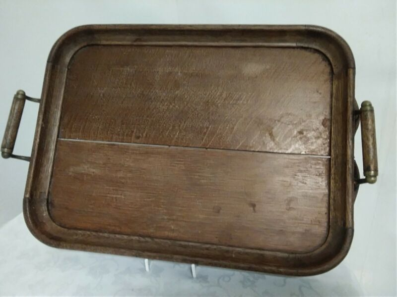 Antique Wood and Brass? Tea Tray