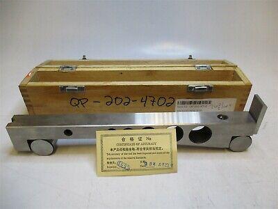 10 X 1 Precision Sine Bar 0.0004 Parallelism 10 Between Rolls W Wood Case