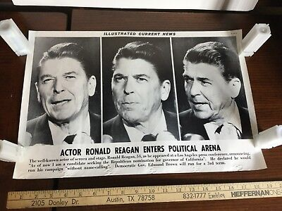 Illustrated Current News Ronald Reagan Enters Political Arena Actor President
