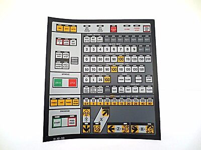 Cnc Machine Keypad Replacement Membraneoverlay 11-18-00. Nos
