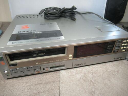 Sony Betamax Beta Hi-Fi Stereo Video Cassette Recorder SL-2710 #1603A