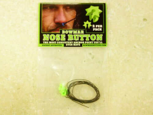 Bowmar Archery Nose Button Green 2 Pack -NEW!