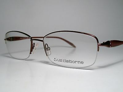 New Ladies LIZ CLAIBORNE L276 Cord Rimless Eyeglasses Frame Burgundy List$140 Lg