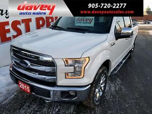 2015 Ford F-150 Lariat 4X4 CREW CAB, TOW PACKAGE, BACK UP CAMERA