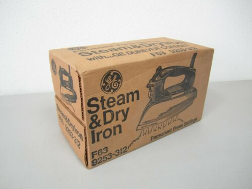 Vintage GE Steam & Dry Iron - F63 9253-312 - New / Sealed