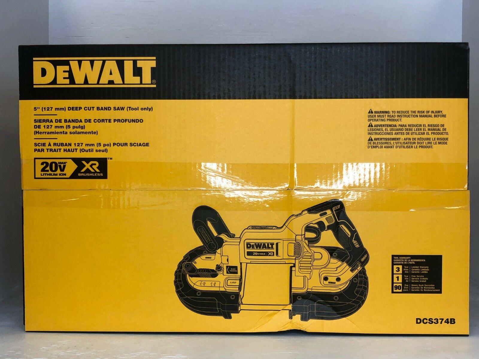 DeWalt DCS374B 20V MAX* XR Brushless Deep Cut Band Saw