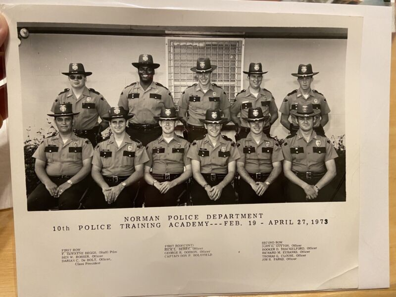 1973 Norman Police Department Training Academy Vintage Photograph OKLAHOMA