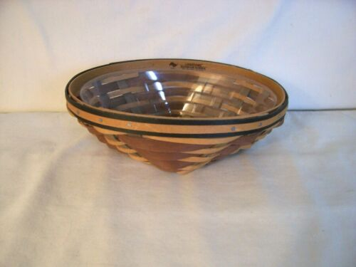 Longaberger 2009 Chestnut Small Oval Diamond Basket With Protector