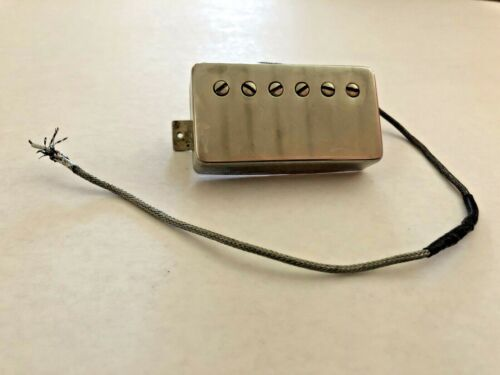 Vintage Gibson Patent Number Neck Pickup 7.55k Les Paul Humbucker PAF