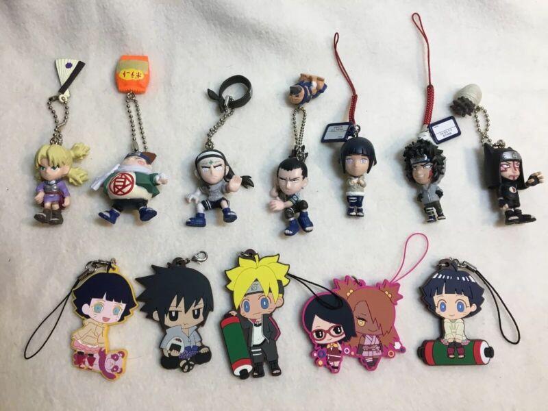 7 NARUTO / BORUTO SD Gashopon Keychains Key Rings Lot Rare Figurines