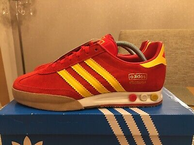 Retro Adidas Kegler Super Red  Yellow Gum Size 8 80s Football Casuals Spain
