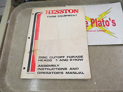 Hesston Farm Equipment Disc Cutoff Forage Heads 1 2 Row Manual