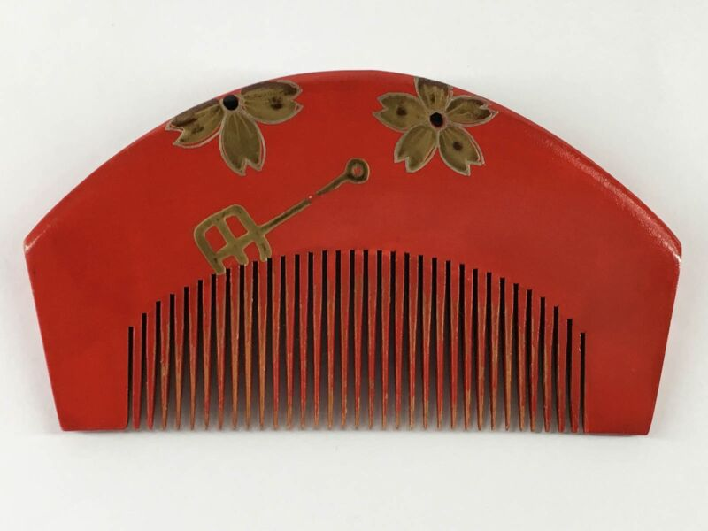 Japanese Professional Bingushi Tsuge wood Comb for Creating Nihongami Hairstyles