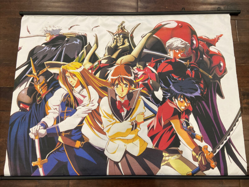 "RARE Anime Wall Scroll Escaflowne MINT 42""x31"""