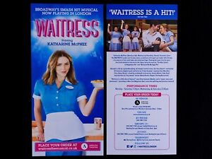 WAITRESS THE West End Musical Flyer. Katharine McPhee Broadway - London 2019