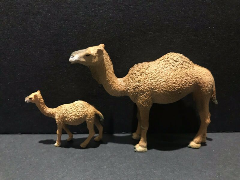 Bandai Kaiyodo WWF Japan Exclusive Camel & Calf Figure Set