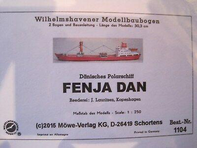 Fenja Dan Polar Schiff Wilhelmshavener Modellbaubogen Bastelbogen Kartonmodel