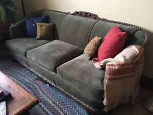 Antique Sofa and Club Chairs